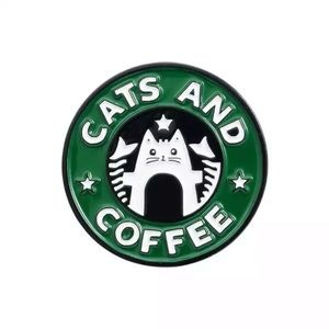 🎉 Cats And Coffee Enamel Pin